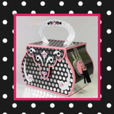 Hourglass Shaped Box Purse Gift Bag