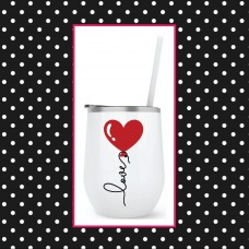 Heart Balloon Round Travel Tumbler