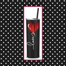 Heart Balloon Skinny Stainless Steel Tumbler