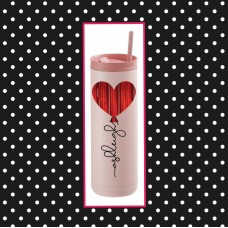 Heart Balloon Thermal Travel Tumbler