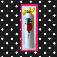 Birthday Balloons Skinny Thermal Bottle