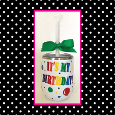 Birthday Round Travel Tumbler