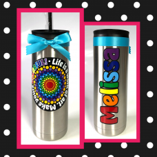 Colorful Thermal Travel Tumbler