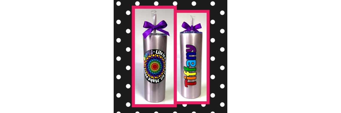 Colorful Skinny Stainless Steel Tumbler