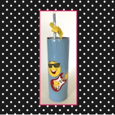 Emoji - GUITAR PLAYER Skinny Stainless Steel Tumbler