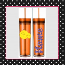 Emoji - TALK TO THE HAND Skinny Tumbler