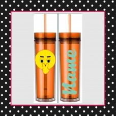 Emoji - WATCHING YOU Skinny Tumbler