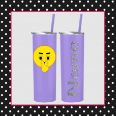 Emoji - WATCHING YOU Skinny Stainless Steel Tumbler