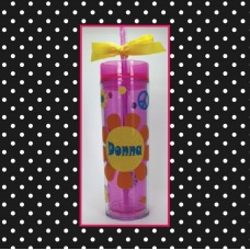 Flower Power Skinny Tumbler