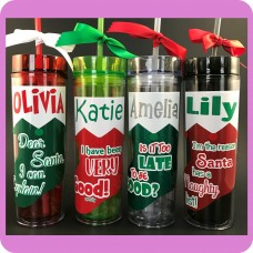 Christmas Stocking Skinny Tumbler