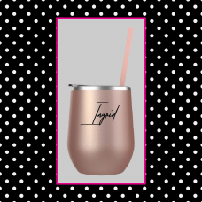 Just My Name Round Travel Tumbler
