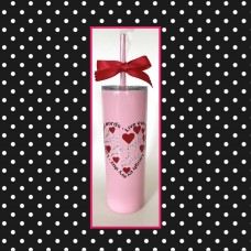"""Live Laugh Love"" Skinny Stainless Steel Tumbler"