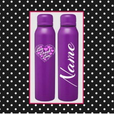 """""""Live Laugh Love"""" Skinny Thermal Water Bottle"""