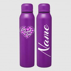 """Live Laugh Love"" Skinny Thermal Water Bottle"