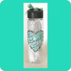 """Live Laugh Love"" Tritan™ Water Bottle"