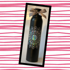 Monogrammed Mandala Skinny Thermal Water Bottle