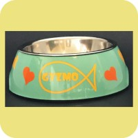 Fish Outline Design Cat Bowl