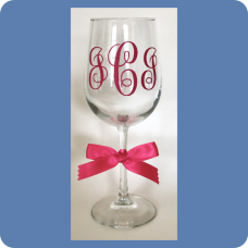 Vine Monogram Wine Glass