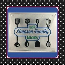 Kitchen Utensils Family Cutting Board