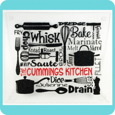 Culinary Terms Cutting/Serving Board