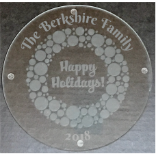 Happy Holidays! Etched Serving/Cutting Board