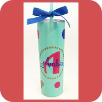 Dots Skinny Stainless Steel Tumbler