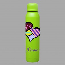Bold Heart Skinny Thermal Water Bottle