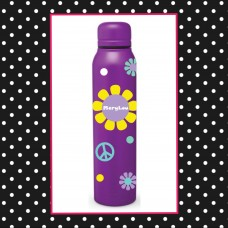 Flower Power Skinny Thermal Water Bottle