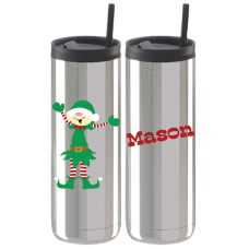 Holiday Elf Thermal Travel Tumbler