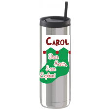 Christmas Stocking Thermal Travel Tumbler